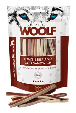 WOOLF pochoutka soft beef and cod sandwich long 100g