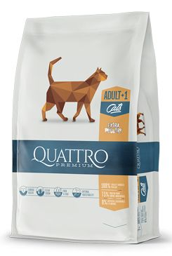 QUATTRO Cat Dry Premium all Breed Adult Drůbež 1,5kg
