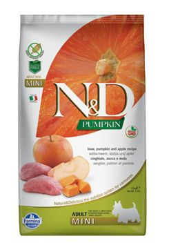 N&D Pumpkin DOG Adult Mini Boar & Apple 7kg (+ BAREL zdarma)