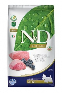 N&D PRIME DOG Adult Mini Lamb & Blueberry 2,5kg