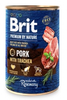 Brit Premium Dog by Nature  konz Pork & Trachea 400g