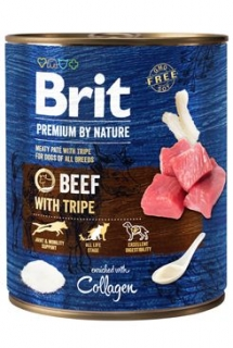 Brit Premium Dog by Nature  konz Beef & Tripes 800g