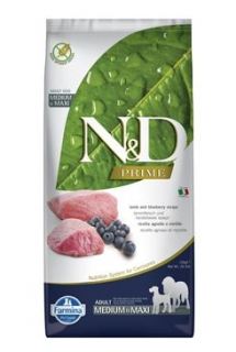 N&D PRIME DOG Adult M/L Lamb & Blueberry 12kg