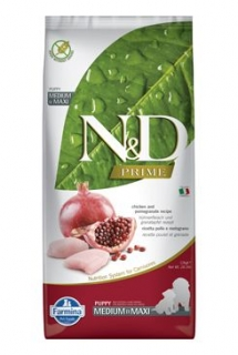 N&D PRIME DOG Puppy M/L Chicken & Pomegranate 12kg