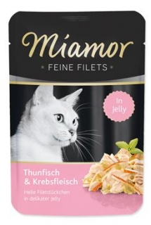 Miamor Cat Filet kapsa tuňák+krab v želé 100g