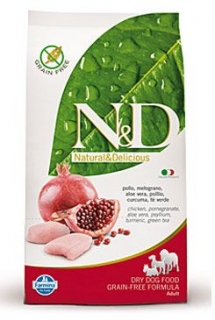 N&D GF DOG Adult Chicken & Pomegranate 2,5kg