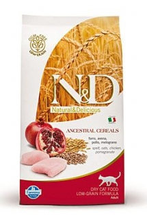 N&D LG CAT Adult Chicken & Pomegranate 300g