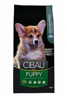 CIBAU Puppy Medium 12kg+2kg ZDARMA
