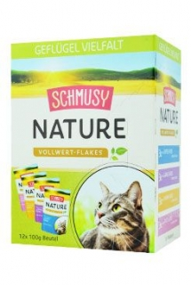 Schmusy Cat Nature Flakes kapsa 4x3x100g multipack