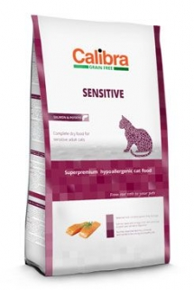 Calibra Cat GF Sensitive Salmon 7kg (3+1 zdarma)