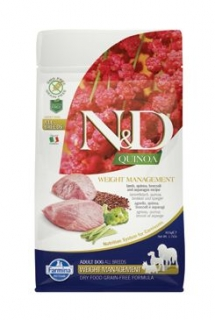 N&D GF Quinoa DOG Weight Mngmnt Lamb & Broccoli 800g