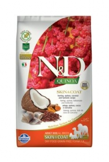 N&D GF Quinoa DOG Skin&Coat Herring & Coconut 2,5kg