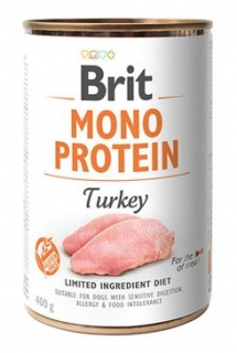 Brit Dog konz Mono  Protein Turkey 400g