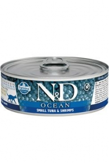 N&D CAT OCEAN Adult Tuna & Shrimps 80g (1+1 ZDARMA)