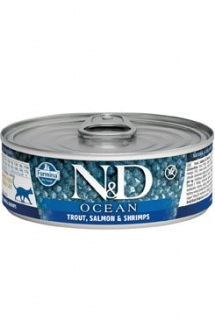 N&D CAT OCEAN Adult Tuna & Salmon 80g (1+1 Zdarma)