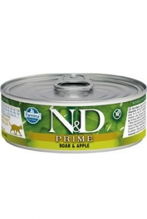 N&D CAT PRIME Adult Boar & Apple 80g (1+1 ZDARMA)