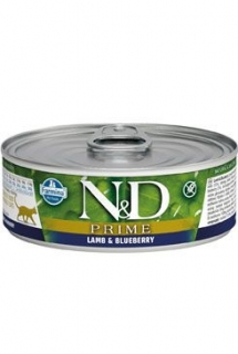 N&D CAT PRIME Adult Lamb & Blueberry 80g (1+1 ZDARMA)
