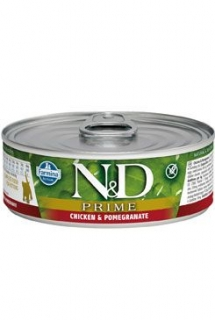 N&D CAT PRIME Kitten Chicken & Pomegranate 80g (1+1 ZDARMA)