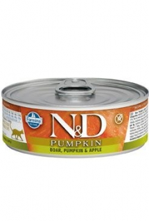 N&D CAT PUMPKIN Adult Boar & Apple 80g (1+1 ZDARMA)