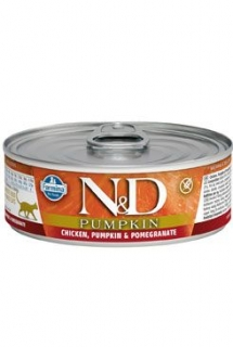 N&D CAT PUMPKIN Adult Chicken & Pomegranate 80g (1+1 Zdarma)