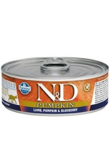 N&D CAT PUMPKIN Adult Lamb & Blueberry 80g (1+1 ZDARMA)