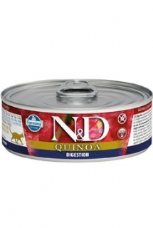 N&D CAT QUINOA Adult Digestion Lamb & Fennel 80g (1+1 ZDARMA)