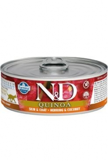 N&D CAT QUINOA Adult Herring & Coconut 80g (1+1 ZDARMA)