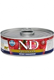 N&D CAT QUINOA Adult Weight Mnmgmt Lamb & Brocolli 80g (1+1 ZDARMA)