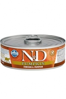 N&D CAT PUMPKIN Adult Venison & Pumpkin 80g (1+1 ZDARMA)