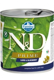 N&D DOG PRIME Adult Lamb & Blueberry 285g