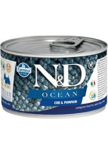 N&D DOG OCEAN Adult Codfish & Pumpkin Mini 140g