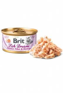 Brit Cat konz Brit Fish Dreams Chicken & Shrimps 80g