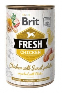 Brit Fresh Dog konz Chicken with Sweet Potato 400g