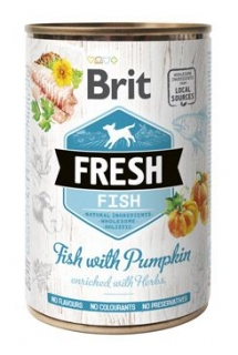 Brit Fresh Dog konz Fish with Pumpkin 400g