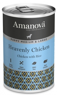 Amanova Dog Puppy Med.&Large Heavenly Chicken 400g