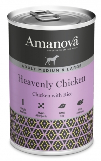 Amanova Dog Adult Med.&Large Heavenly Chicken 400g