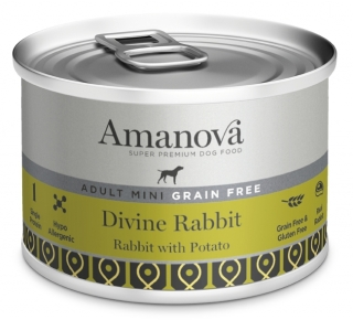 Amanova Dog Adult Mini GRAIN FREE DivineRabbit 150g