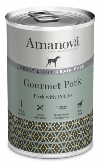 Amanova Dog Adult OBESITY GRAIN FREE Pork 400g