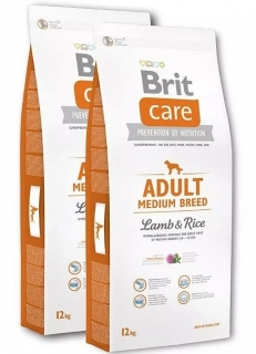 Brit Care Dog Adult Medium Breed Lamb & Rice 2x12kg