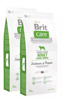 Brit Care Dog GF Adult LB Salmon & Potato 2x12kg