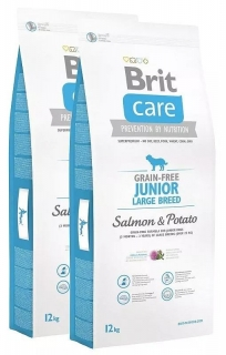 Brit Care Dog GF Junior LB Salmon & Potato 2x12kg