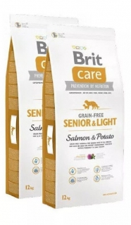 Brit Care Dog GF Senior Salmon & Potato 2x12kg