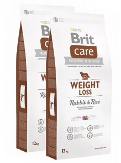 Brit Care Dog Weight Loss Rabbit & Rice 2x12kg