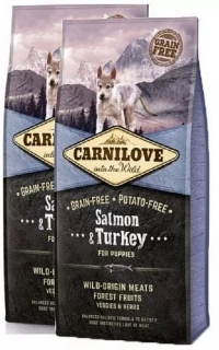 Carnilove Dog Puppy Salmon & Turkey 2x12kg