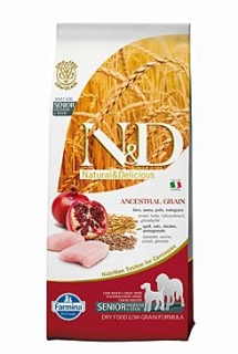 N&D Low Grain DOG Senior M/L Chicken&Pomegr 2x12kg