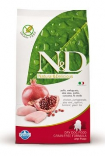 N&D Grain Free DOG Puppy Maxi Chicken & Pomegr 2x12kg