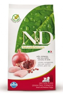 N&D Grain Free DOG Puppy S/M Chicken & Pomegr 2x12kg