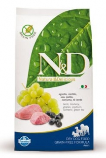 N&D Grain Free DOG Adult Lamb & Blueberry 2x 12kg