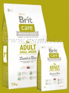 Brit Care Dog Adult Small Breed Lamb & Rice 2x7,5kg