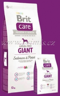 Brit Care Dog GF Giant Salmon & Potato 2x12kg